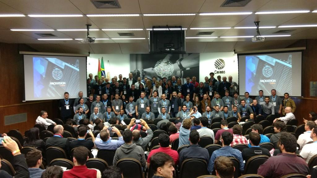 HackatonCelesc Staff e Mentores na abertura